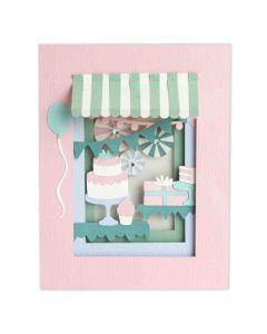 Birthday Shadow Box die Set