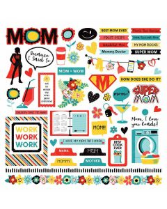 Best Mom Ever Element Stickers