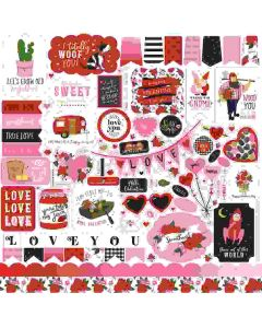 Be My Valentine Element Stickers - Echo Park