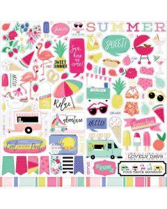 Best Summer Ever Element Stickers - Echo Park