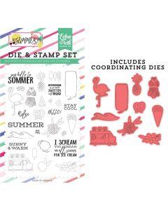 Say Hello To Summer Die & Stamp Set - Best Summer Ever - Echo Park