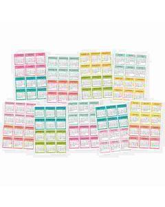 Carpe Diem Calendar sticker sheets