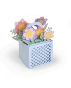 Card in a Box Flower Basket Sizzix Die
