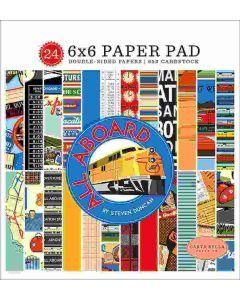"All Aboard 6"" x 6"" Paper Pad - Steven Duncan - Carta Bella"
