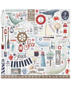 By The Sea Element Stickers - Carta Bella*