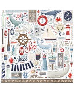 By The Sea Element Stickers - Carta Bella*