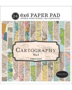 """Cartography No. 1 6"""" x 6"""" Paper Pad - Carta Bella"""