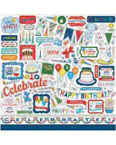 Let's Celebrate Element Stickers - Carta Bella