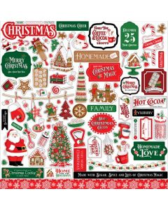 Christmas Cheer Element Stickers - Carta Bella