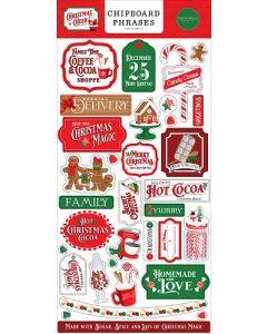 Christmas Cheer Chipboard Phrases - Carta Bella