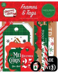 Christmas Cheer Frames & Tags - Carta Bella