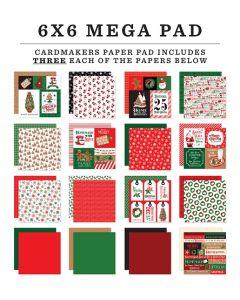 "Christmas Cheer Cardmakers 6"" x 6"" Mega Pad - Carta Bella"