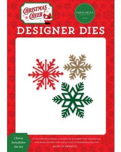Cheery Snowflakes Dies - Christmas Cheer - Carta Bella