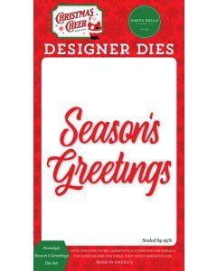 Nostalgic Season's Greetings Dies - Christmas Cheer - Carta Bella