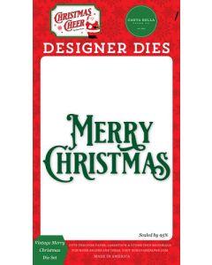 Vintage Merry Christmas Dies - Christmas Cheer - Carta Bella