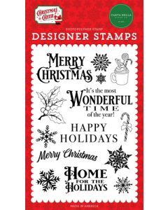 Most Wonderful Time Stamps - Christmas Cheer - Carta Bella