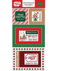 Christmas Cheer Chipboard Frames - Carta Bella