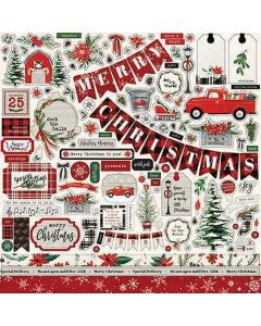 Christmas Market Element Stickers - Carta Bella