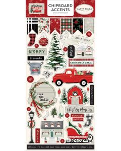 "Christmas Market 6"" x 13"" Chipboard Accent Stickers - Carta Bella"