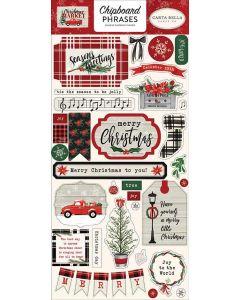 "Christmas Market 6"" x 13"" Chipboard Phrase Stickers - Carta Bella"