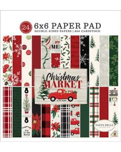 "Christmas Market 6"" x 6"" Paper Pad - Carta Bella"
