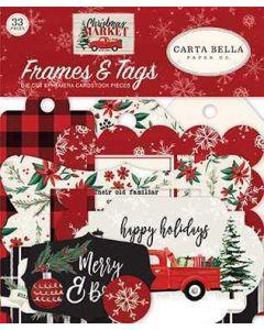 Christmas Market Frames & Tags - Carta Bella