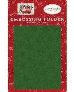 Market Snow Embossing Folder - Christmas Market - Carta Bella