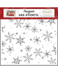 Falling Snowflakes Stencil - Christmas Market - Carta Bella