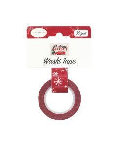 Snow Flurries Washi Tape - Christmas Market - Carta Bella