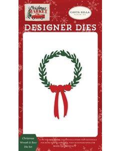 Christmas Wreath & Bow Die Set - Christmas Market - Carta Bella
