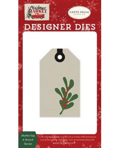 Market Tag & Branch Die Set - Christmas Market - Carta Bella