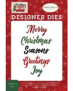 Holiday Word Die Set - Christmas Market - Carta Bella