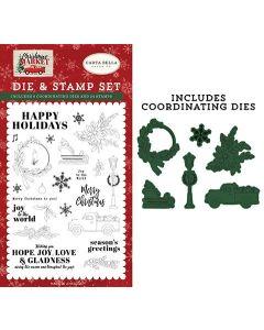 Happy Holidays Die & Stamp Set - Christmas Market - Carta Bella