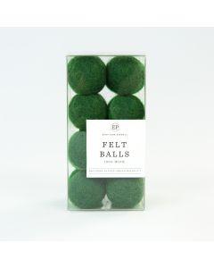 Green Wool Felt Ball Pack - Christmas Market - Carta Bella