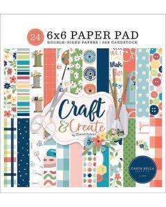 """Craft & Create 6"""" x 6"""" Paper Pad - Carta Bella"""