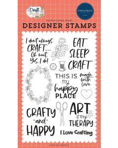 Crafty & Happy Stamps - Craft & Create - Carta Bella