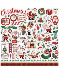 Dear Santa Element Stickers - Carta Bella