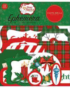 Dear Santa Ephemera - Carta Bella