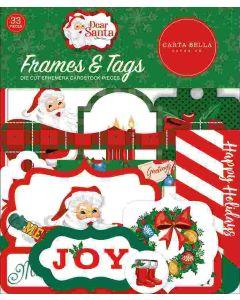 Dear Santa Frames & Tags - Carta Bella