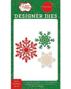 Santa's Snowflakes Dies - Dear Santa - Carta Bella