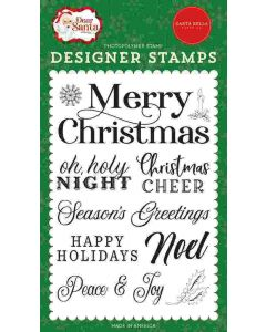 Merry Christmas Sentiment Stamps - Dear Santa - Carta Bella