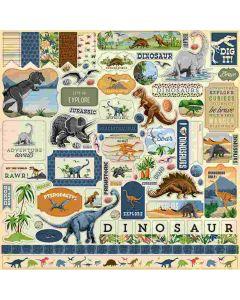 Dinosaurs Element Stickers - Carta Bella