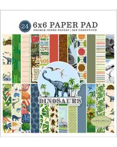 "Dinosaurs 6"" x 6"" Paper Pad - Carta Bella"