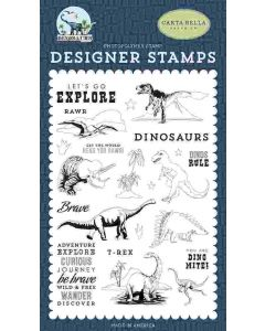 Dinos Rule Stamp Set - Dinosaurs - Carta Bella