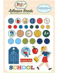 School Days Adhesive Brads - Carta Bella*