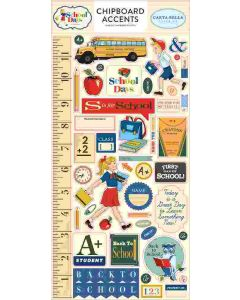 "School Days 6"" x 13"" Chipboard Accents - Carta Bella*"