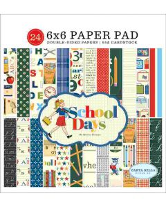 "School Days 6"" x 6"" Paper Pad - Carta Bella*"