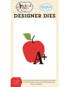 A+ Apple Die Set - School Days - Carta Bella*