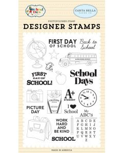 School Days Stamp Set - School Days - Carta Bella*