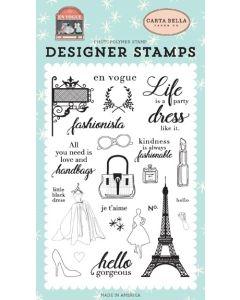 Fashionista Stamp Set - En Vogue - Carta Bella
